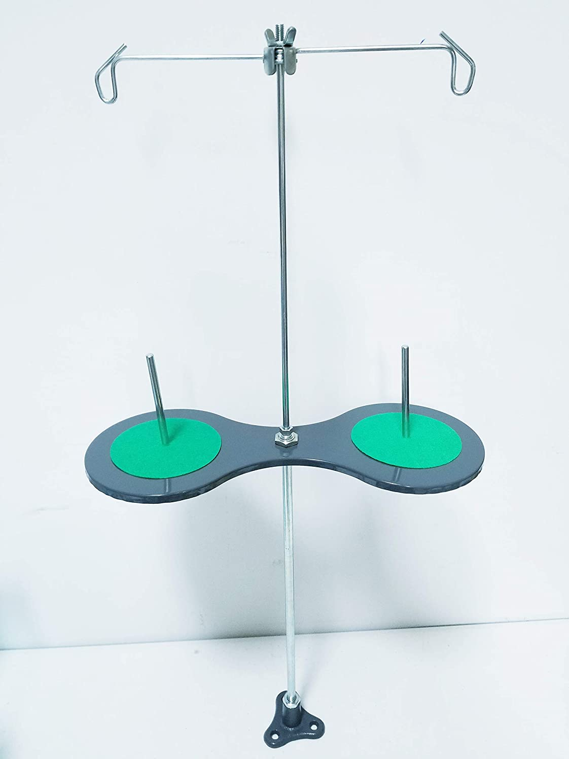 2 Cone and Spool Stand Thread Holder with Sturdy Metal Base, for Industrial Sewing Machines