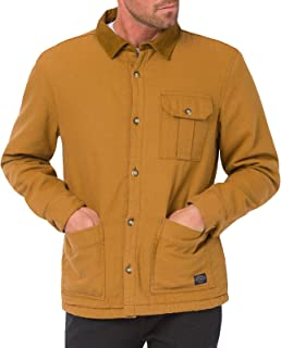 Animal Mens Subway Long Sleeve Buttoned Polo Sherpa Lined Corduroy Jacket