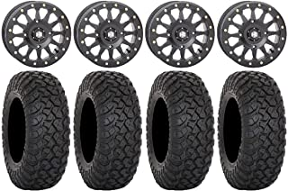 "Bundle - 9 Items: STI HD A1 Beadlock 15"" Wheels Black 35"" RT320 Tires [4x137 Bolt Pattern 10mmx1.25 Lug Kit]"
