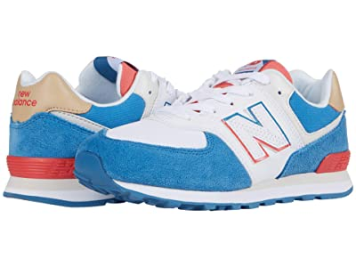 New Balance Kids 574 Split Sail (Little Kid) (Mako Blue/Toro Red) Boy