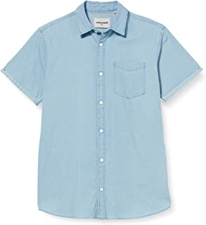 Jack & Jones Jcoken Shirt SS One Pocket Camisa para Hombre