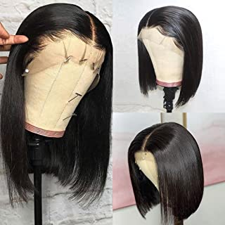 Megalook Short Bob Wigs Lace Front Wigs Human Hair Straight Human Hair Wigs For Black Women 2x6 Lace Front Bob Wigs Lace Wigs