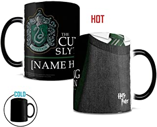 Morphing Mugs Personalized Harry Potter Slytherin Robe Heat Reveal Ceramic Coffee Mug - 11 Ounces - ADD YOUR OWN NAME TO YOUR HOGWARTS HOUSE!