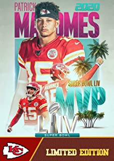 2020 PATRICK MAHOMES MVP Football Card - Limited Edition Custom Made Kansas City Chiefs Super Bowl MVP Card