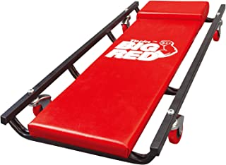 """Torin Big Red Rolling Garage/Shop Creeper: 36"""" Padded Mechanic Cart with 4 Casters, Red"""