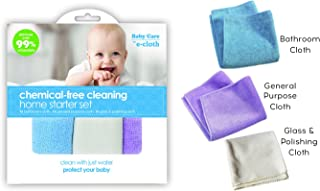 E-Cloth Baby Chemical-Free Water Only Cleaning Cloths Home Starter Kit - 3pc
