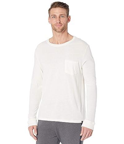 Threads 4 Thought Tri-Blend Long Sleeve Pocket Tee (White) Men