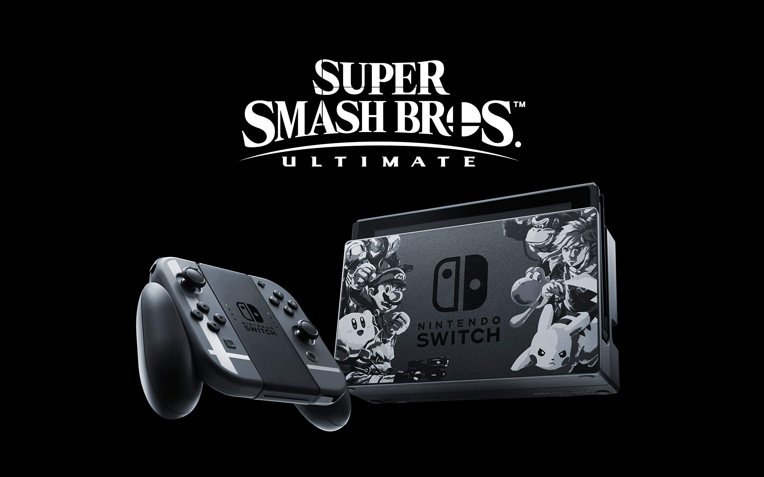 Nintendo Switch Grey Super Smash Bros. Ultimate Edition + Super ...