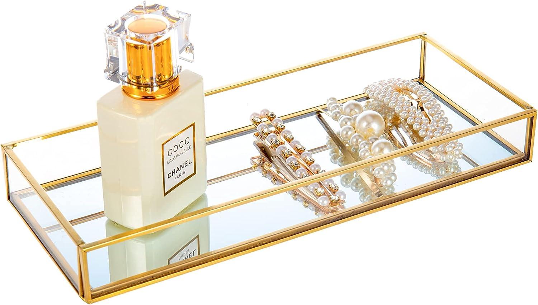 Feyarl Gold Clear Translated Glass Vanity Rings Trinket Earrin Sale Tray Jewelry