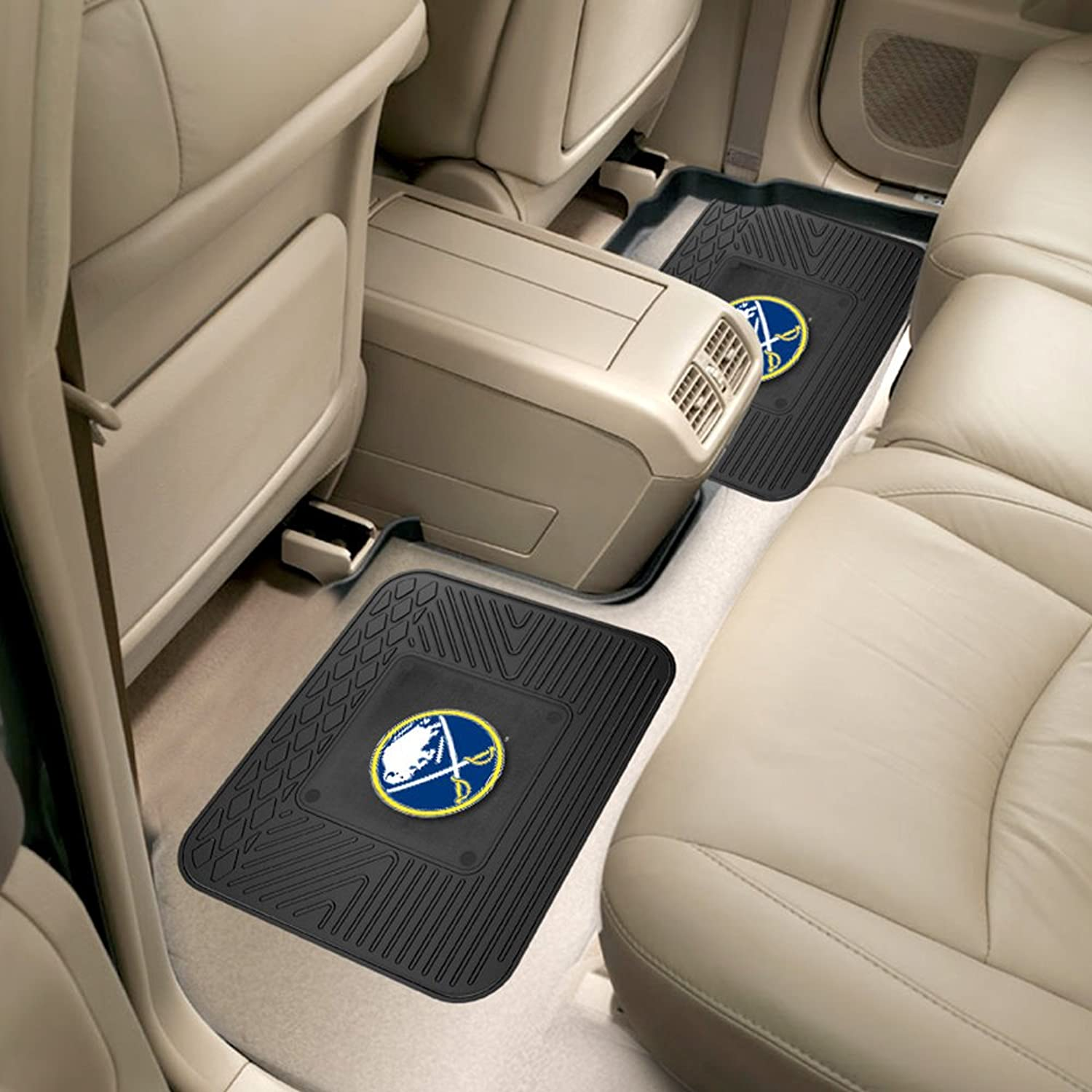 Fanmats Sports Team Logo NHL - Buffalo Sabres Backseat Car Utility Mats 2 Pack