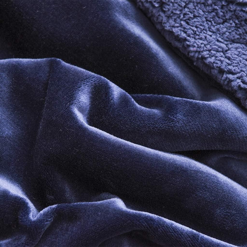 ZFF Hiver épais couverture chaude double face simple simple couverture double jet pour chaise canapé et lit cadeau 150 * 200cm (Color : D) A