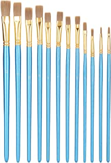 Paintbrushes, 12Pcs Oil Paint Brushes Acrylic Paint Brushes, Watercolor Paint Brushes Art Paint Brush Set for Drawing Wate...