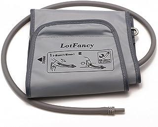 LotFancy D-Ring Cuff Replacement H-003D H-CR24 for Omron Upper Arm Blood Pressure Monitor BP710 BP742 HEM-432C HEM-711AC HEM-712C HEM-712CLC ELITE7300W, Large 9-17 Inches