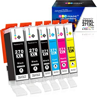 GPC Image Compatible Ink Cartridge Replacement for Canon 270XL 271XL to use with PIXMA..