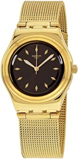 Swatch Losange Women's Brown Dial Stainless Steel Band Watch - YLG133M