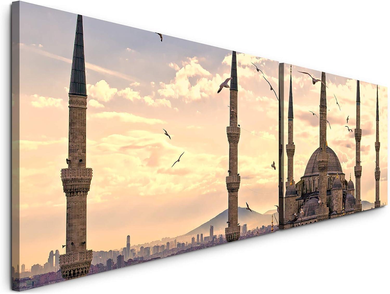 Paul Paul Paul Sinus Art Istanbul 180x50cm - 2 Wandbilder je 50x90cm - Kunstdrucke - Wandbild - Leinwandbilder fertig auf Rahmen B07NWP4NKP f8cada