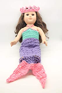 18'' Doll Clothes - Doll Accessories - Handmade Doll Clothes - Fits 18'' American Girl Dolls - Doll Outfits - Doll Dressup - Costume Outfit (Purple Mermaid)