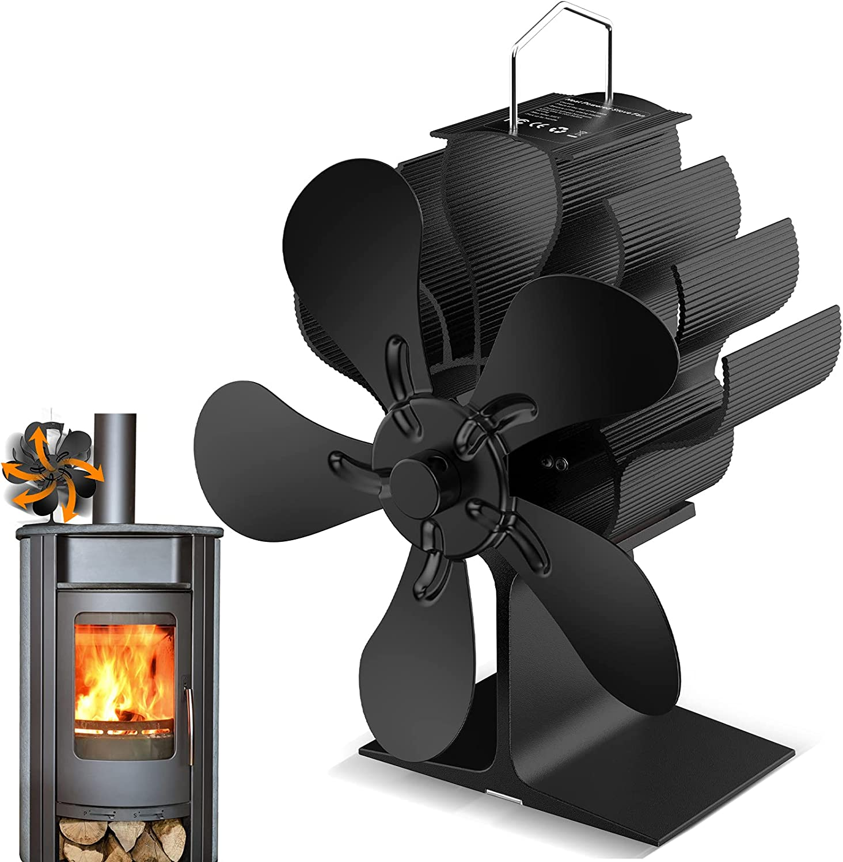 Ventilador estufa, Ventilador de Chimenea, Actualización de funcionamiento silencioso, Energía Térmica,Para Estufas, Estufas de Leña y Chimeneas (5 Páginas)