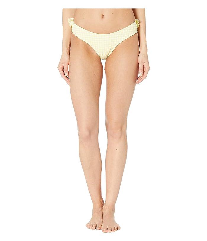Jonathan Simkhai Gingham Bikini Bottoms (Lemonade/White) Women