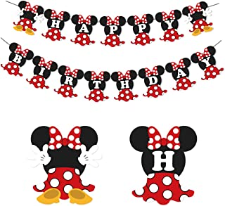 Best minnie mouse red and black party decorations Reviews