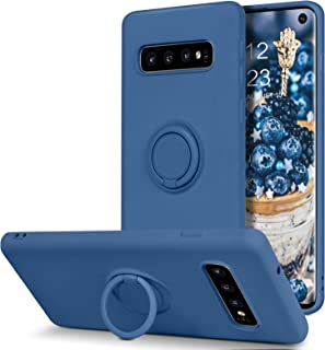BENTOBEN Samsung Galaxy S10 Plus Case, Slim Silicone Soft Rubber with 360° Ring Holder Kickstand Car Mount Supported Prote...