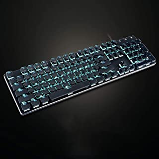 ZHEBEI Short axis mechanical keyboard tea axis gaming wired keyboard computer keyboard black