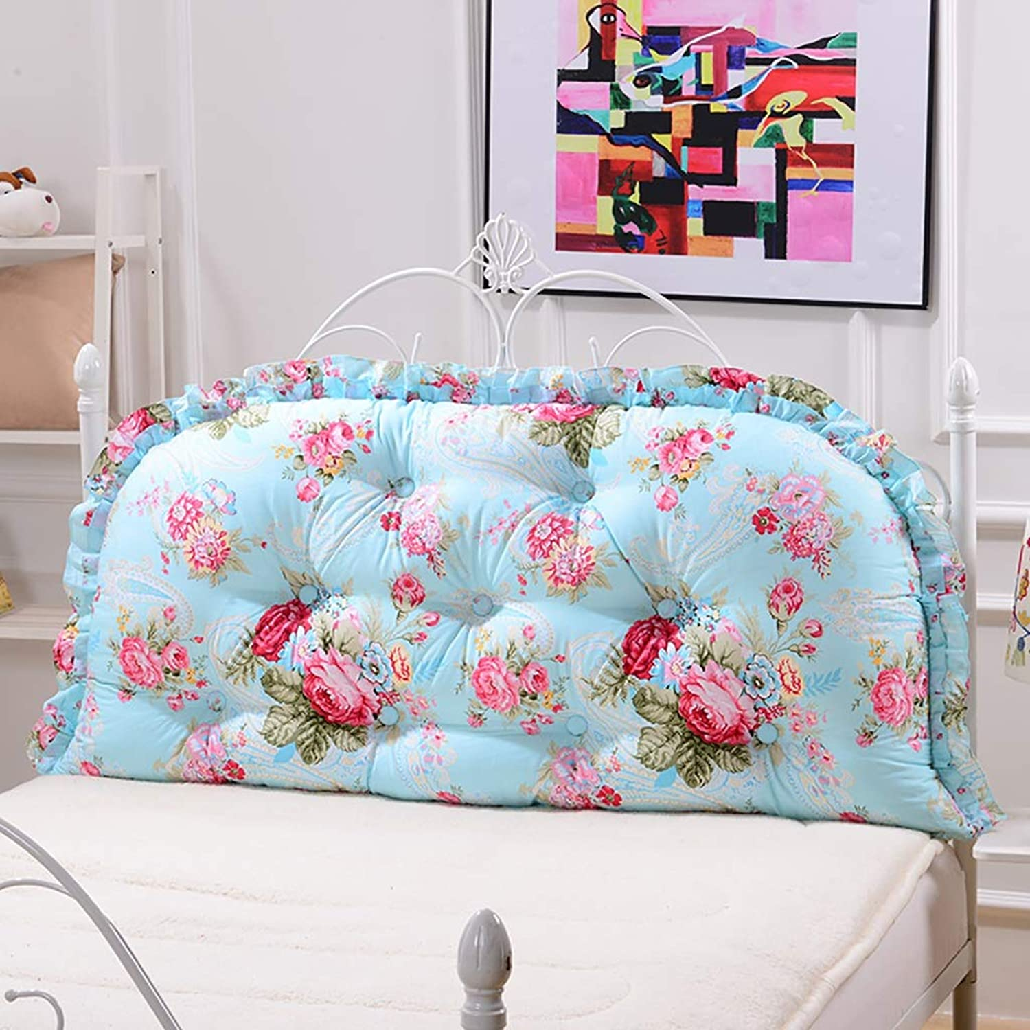 Headboard Bed Backrest Cushion Bed Cushion Bedside Pillow Cotton Soft Large Pillow Lumbar Support Detachable and Washable 11 Solid colors 4 (color   A3, Size   120  65cm)