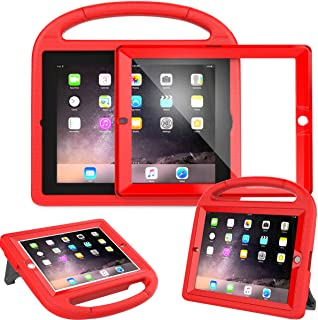 AVAWO Kids Case Built-in Screen Protector for iPad 2 3 4 (Old Model)- Shockproof Handle Stand Kids Friendly Compatible with iPad 2nd 3rd 4th Generation (Red)