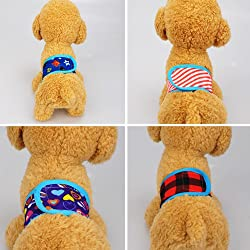 BYyushop Male Pet Dog Nappy Band Soft Sanitary Pants Training Toilet Belly Strap Diapers - Random Color 8