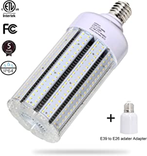 120W LED Corn Light Bulb Large Mogul Base E39 LED Bulb AC100-277V 5000K Daylight LED Replacement 600w Metal Halide HID HPS light bulb for Industrial Commercial Workshop Garage Warehouse High Bay light