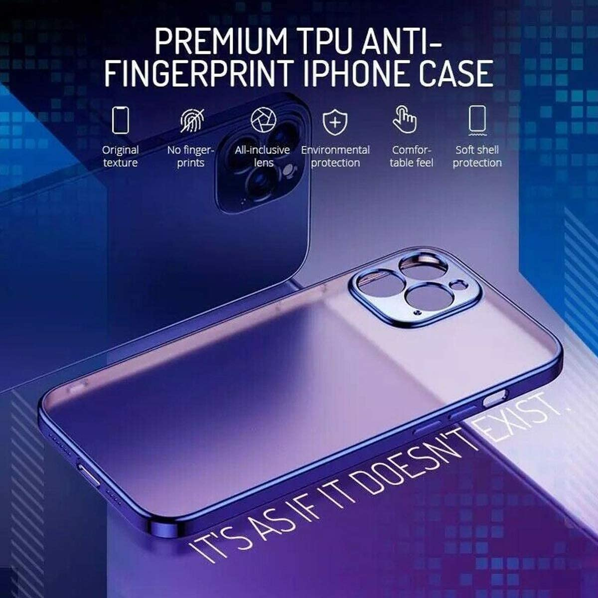 Anti-Scratch Reinforced Corner /& Bumper Shockproof Drop Protection Soft Phone Case 11 Black LODIIYAR Premium TPU Anti-Fingerprint Phone Case Cover for iPhone 12 PRO Max 12 Mini 11