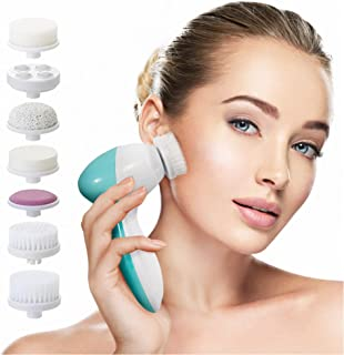 Facial Cleansing Brush Face Spin Brush with 7 Exfoliating Brush Heads for Gentle Exfoliation and Deep Scrubbing, Removing ...