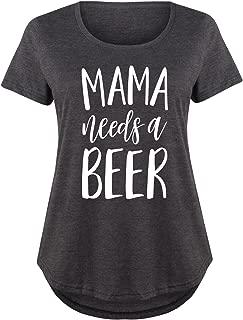 Mama Needs A Beer - Ladies Plus Size Scoop Neck Tee