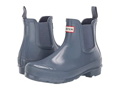 Hunter Original Chelsea Gloss Rain Boots (Gull Grey) Women