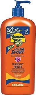 Banana Boat Ultra Sport Sunscreen Lotion, New Formula, SPF 50+, 12 Fl Oz (Pack of 1)