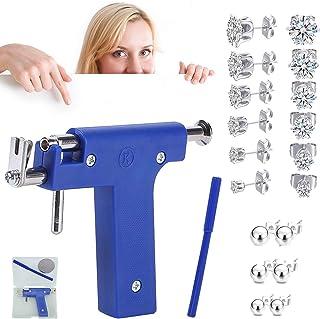 کیت سوراخ کننده گوش ، مجموعه ابزار اسلحه سوراخ بینی با 12 عدد گوشواره گل میخ استیل ضد زنگ برای استفاده در خانه در سالن ، کیت تفنگ سوراخ کننده گوش ، بینی ، بدن