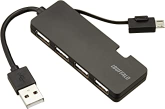 iBUFFALO USB2.0 hub 4-port (connector powered USB microB) black BSH5U05BK