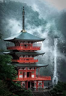 ジグソーパズル 霧かかる那智の滝と三重塔 (和歌山) コンパクトピース 500ピース (26x38cm)