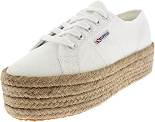 Superga Womens 2790 Cotropew Wedges Summer Casual Flatform Sneakers - White - 7.5