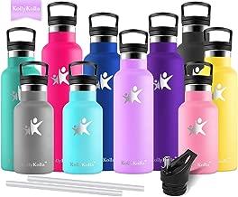 KollyKolla Bottiglia Termica per Acqua in Acciaio Inox, Senza BPA, Borraccia Sportiva Sottovuoto a Doppia Parete - 350/500/600/750ml, Borracce Termiche per Bambini, Scuola, Ufficio, Sport, Palestra