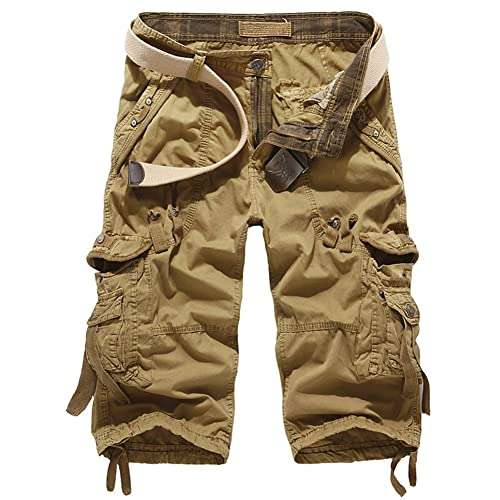 Mens Pierre Cardin Cargo Army Combat Work Trousers Pants With Belt 100/% Cotton