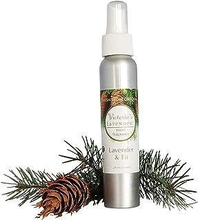 Victoria's Lavender Room Spray All-Natural Home Fragrance 100% Pure Essential Oil Air Freshener Odor Eliminator (Fir)