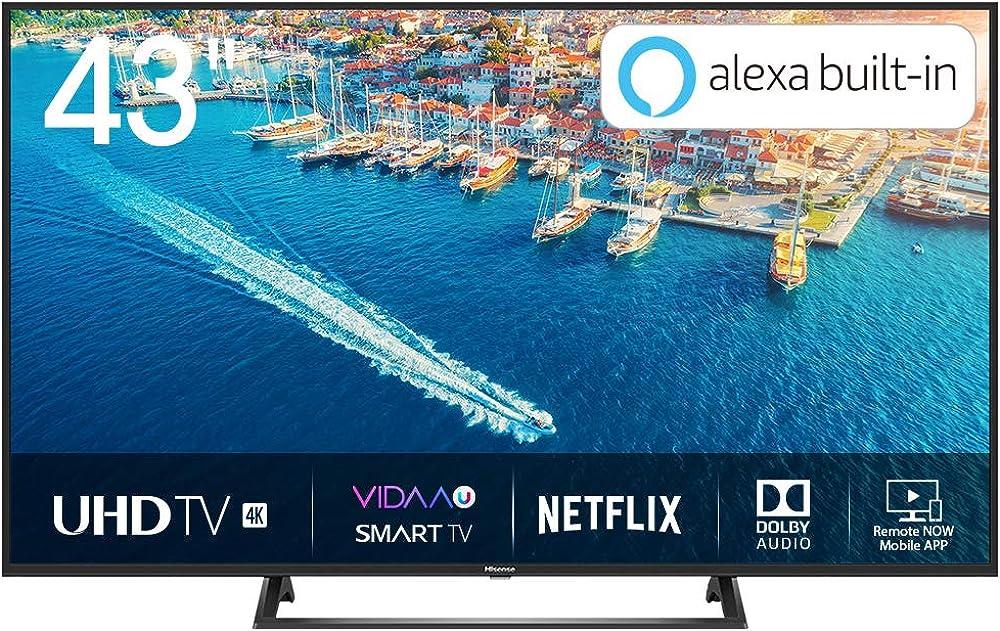 Hisense smart tv led ultra hd 4k 43
