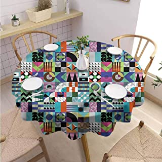 Modern Round Tablecloth Mid Century Various 60s Shapes Buffet Table Holiday Dinner Picnic D55