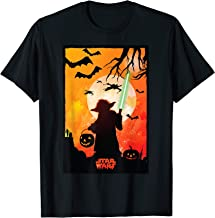 Star Wars Yoda Silhouette Halloween T-Shirt