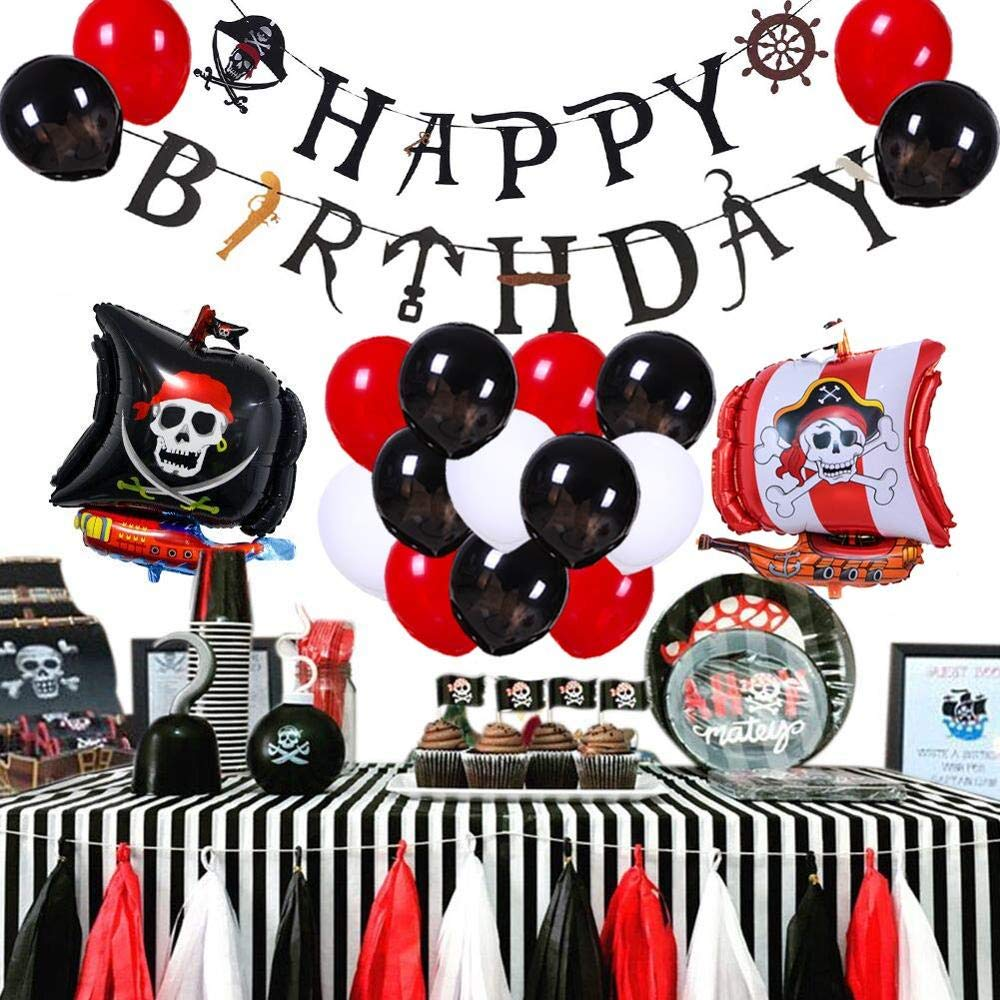 Pirate Party Supplies Kit for Kids: Pirate Birthday Party Supplies