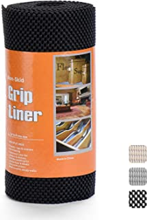 Glotoch Grip Black Shelf Liners Drawer and Shelf Liner Non Adhesive Durable Cuttable 12