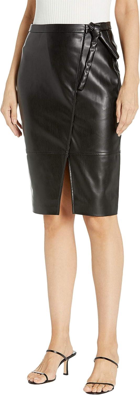 [BLANKNYC] Womens Women's Faux Leather Wrap Skirt