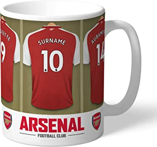 Official Personalized Arsenal FC Dressing Room Mug - Free Personalisation