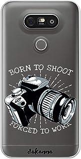 dakanna Funda Compatible con [LG G5 - G5 SE] de Silicona Flexible, Dibujo Diseño [Camara Profesional de Fotografo], Color [Borde Transparente] Carcasa Case Cover de Gel TPU para Smartphone